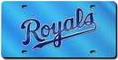 Kansas City Royals Laser Cut Light Blue License Plate