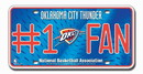 Oklahoma City Thunder License Plate - #1 Fan
