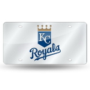 Kansas City Royals Laser Cut Silver License Plate