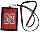 Nebraska Cornhuskers Beaded Lanyard Wallet - Script Logo