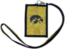 Iowa Hawkeyes Beaded Lanyard Wallet