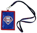 Philadelphia Phillies Beaded Lanyard Wallet