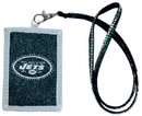 New York Jets Beaded Lanyard Wallet