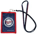 Minnesota Twins Beaded Lanyard Wallet