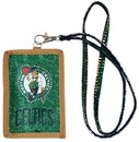 Boston Celtics Beaded Lanyard Wallet