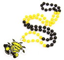 Wichita State Shockers Mardi Gras Beads with Medallion
