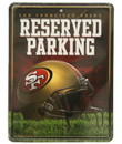 San Francisco 49ers Metal Parking Sign