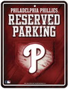 Philadelphia Phillies Metal Parking Sign