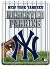 New York Yankees Metal Parking Sign