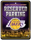 Los Angeles Lakers Metal Parking Sign