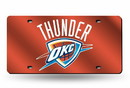 Oklahoma City Thunder Laser Cut Orange License Plate
