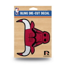 Chicago Bulls Decal 5.5x5 Die Cut Bling