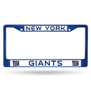 New York Giants Metal License Plate Frame - Blue