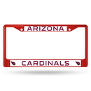Arizona Cardinals Metal License Plate Frame - Red