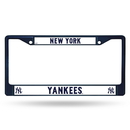 New York Yankees Metal License Plate Frame - Navy