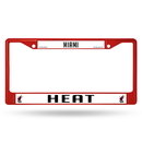 Miami Heat Metal License Plate Frame - Red