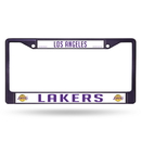 Los Angeles Lakers Metal License Plate Frame - Purple