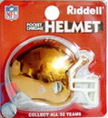 Cleveland Browns Helmet Riddell Pocket Pro VSR4 Style Chrome