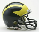 Michigan Wolverines Replica Mini Helmet w/ Z2B Mask