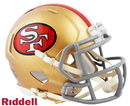 San Francisco 49ers Helmet Riddell Replica Mini Speed Style Color Rush Special Order