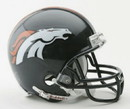 Denver Broncos Replica Mini Helmet w/ Z2B Face Mask