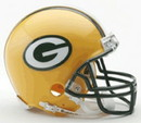 Green Bay Packers Replica Mini Helmet w/ Z2B Face Mask