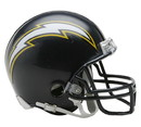 Los Angeles Chargers Helmet Riddell Replica Mini VSR4 Style 1988-2006 Throwback Special Order
