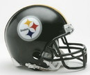 Pittsburgh Steelers Replica Mini Helmet w/ Z2B Face Mask