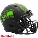Seattle Seahawks Helmet Riddell Replica Mini Speed Style Eclipse Alternate Special Order
