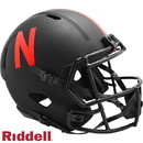 Nebraska Cornhuskers Helmet Riddell Replica Full Size Speed Style Eclipse Alternate