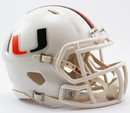 Miami Hurricanes Helmet Riddell Replica Mini Speed Style