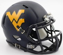 West Virginia Mountaineers Helmet - Riddell Replica Mini - Satin - Speed Style