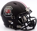 South Carolina Gamecocks Helmet - Riddell Replica Mini - Speed Style - Matte Black