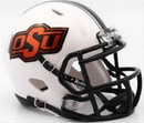 Oklahoma State Cowboys Helmet - Riddell Replica Mini - Speed Style - 2016 White
