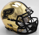 Purdue Boilermakers Helmet Riddell Replica Mini Speed Style Chrome Alternate
