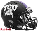 TCU Horned Frogs Helmet Riddell Replica Mini Speed Style Matte Black