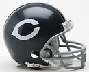 Chicago Bears 1962-73 Throwback Replica Mini Helmet w/Z2B Mask