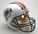 Miami Dolphins 1997-2012 Throwback Riddell Deluxe Replica Helmet