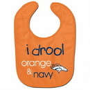 Denver Broncos Baby Bib All Pro Style I Drool Design