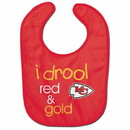 Kansas City Chiefs Baby Bib All Pro Style I Drool Design Special Order