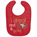 San Francisco 49ers Baby Bib All Pro Style I Drool Design