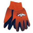 Denver Broncos Two Tone Adult Size Gloves