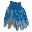 Detroit Lions Two Tone Adult Size Gloves