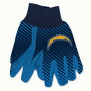 San Diego Chargers Gloves Two Tone Style Adult Size