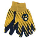 Milwaukee Brewers Two Tone Gloves - Adult Size