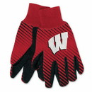 Wisconsin Badgers Gloves Two Tone Style Adult Size
