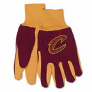 Cleveland Cavaliers Gloves Two Tone Style Adult Size