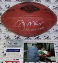 Creative Sports Joe Montana Hand Signed Super Bowl XIX Official NFL Football