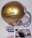 Creative Sports Lou Holtz Autographed Hand Signed Notre Dame Fighting Irish Full Size Helmet - PSA/DNA