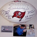 Creative Sports Mike Alstott Autographed Hand Signed Tampa Bay Buccaneers Logo Football - PSA/DNA